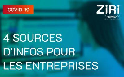 COVID-19 : 4 sources d'informations pour les entreprises